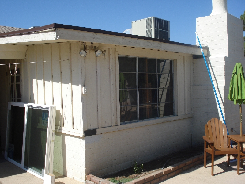 Before windows and new paint